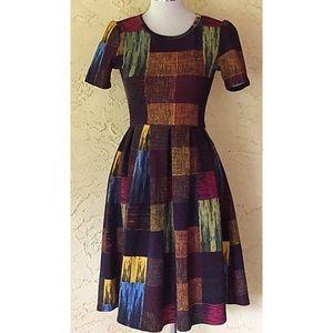 LulaRoe Amelia patchwork dress